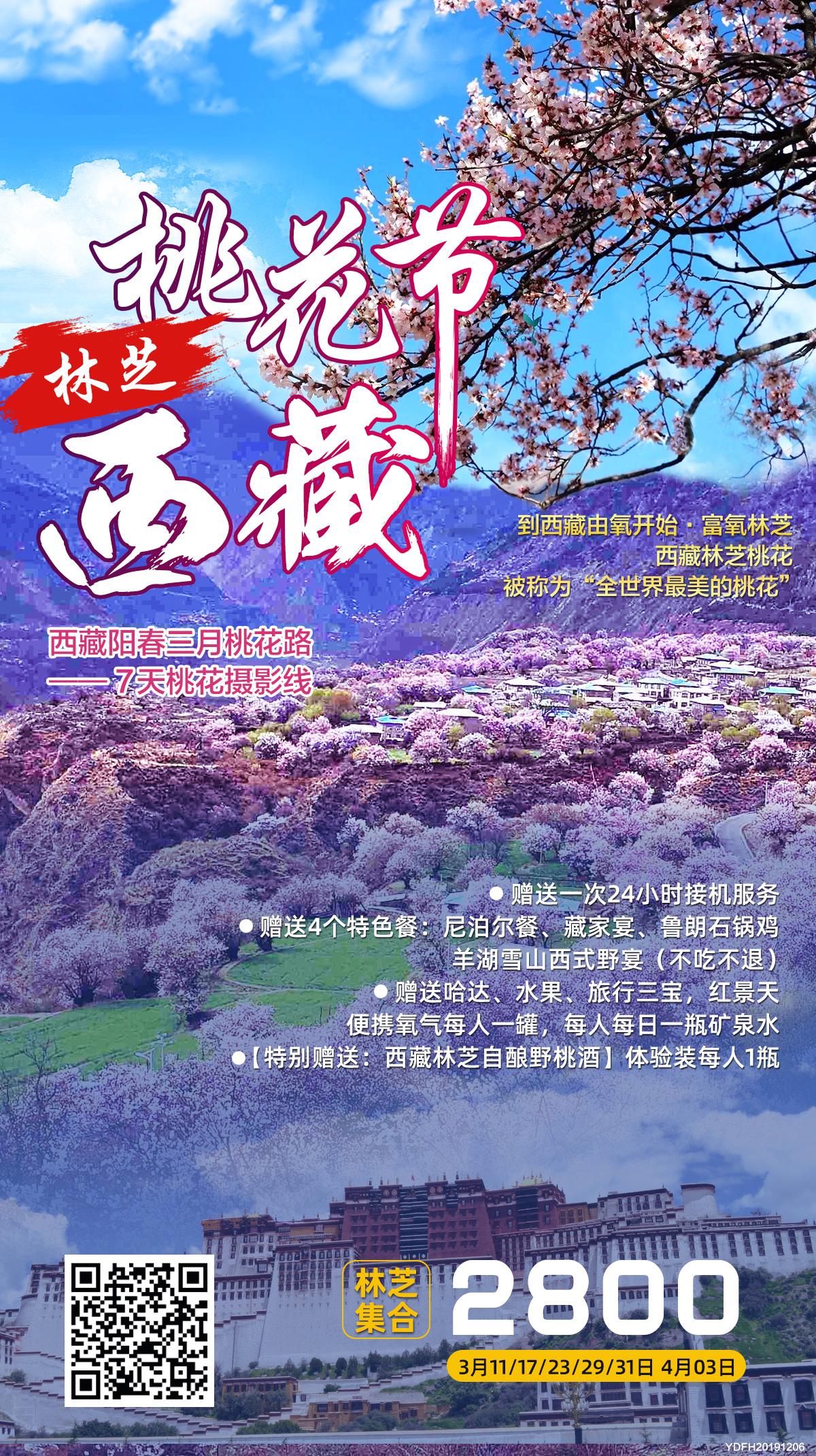 林芝桃花节丨西藏7天